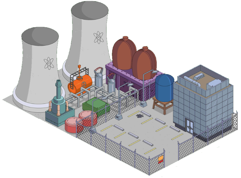 Springfield Nuclear Power Plant The Simpsons Tapped Out