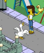 Shauna teasing ducks