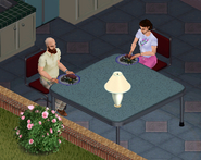 Ts1 Bob and Betty Newbie eating dinner