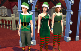 Fanon The Sims 4 Christmas Collection Sims wearing Christmas clothing