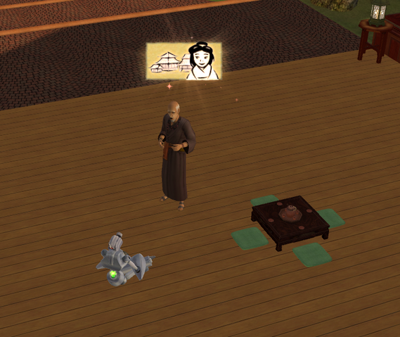 File:Sim being told the dragon tale story.png
