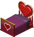 Vibromatic heart bed