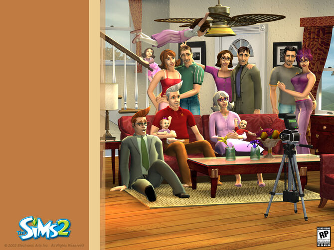 The Sims 2 old trailer - family