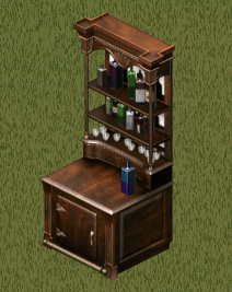 Ts1 antique saloon drink cabinet