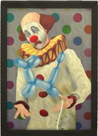 Tragic Clown Painting