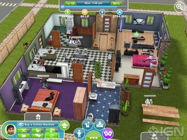 Sims Freeplay Designer House.