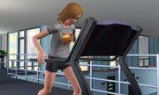 Astrid runs on treamill1