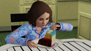 Frankie eatting a slice of her birthday cake