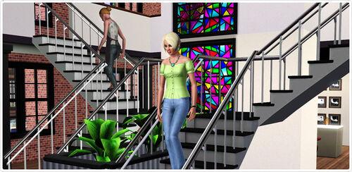 Prism Art Studio venue L-shaped stairs