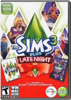 The Sims 3 Plus Late Night Cover