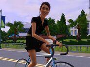 Leona on bike