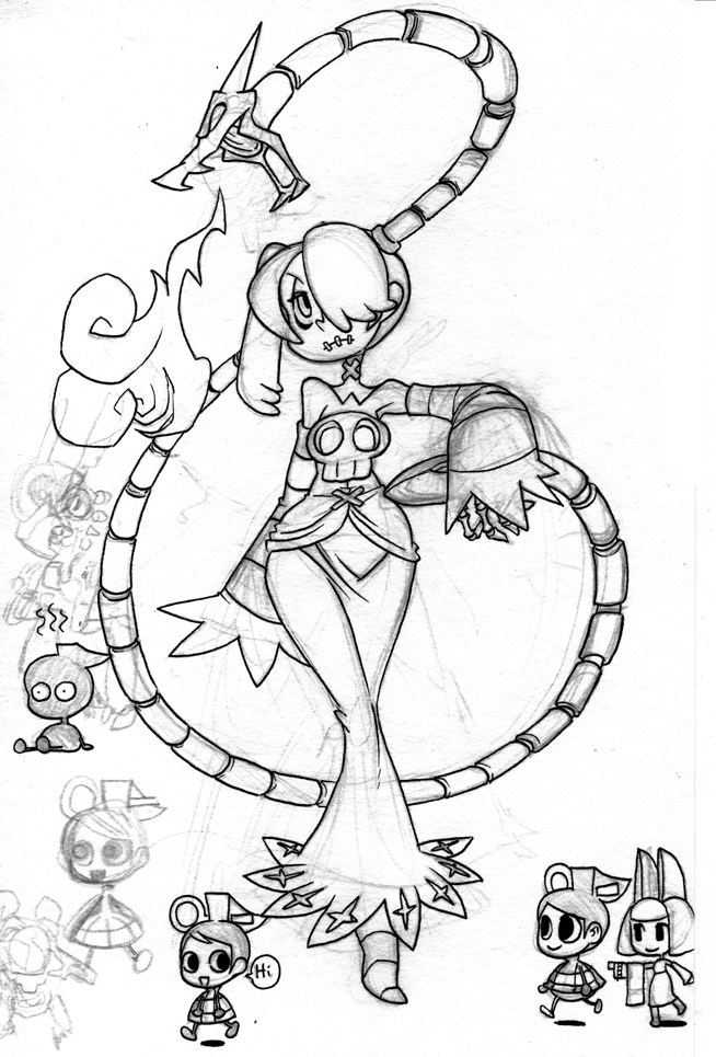 Skull girls characters coloring pages ~ Image - Squigly-skullgirls-32190363-654-965.jpg ...