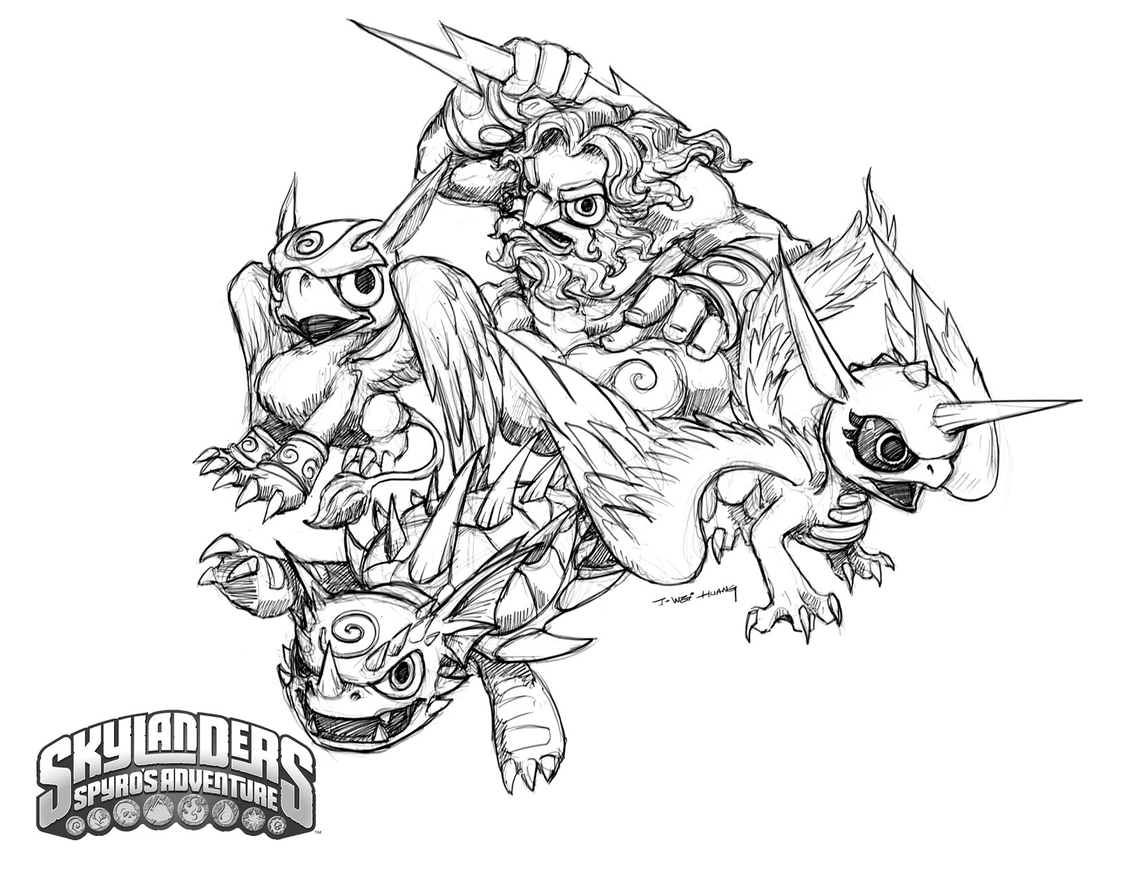 skylanders coloring pages spitfire seattle - photo#26