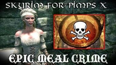Skyrim For Pimps - Epic Meal Crime (S1E10) Dark Brotherhood Walkthrough-0