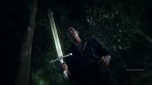 Irving weilds Sword of Methuselah