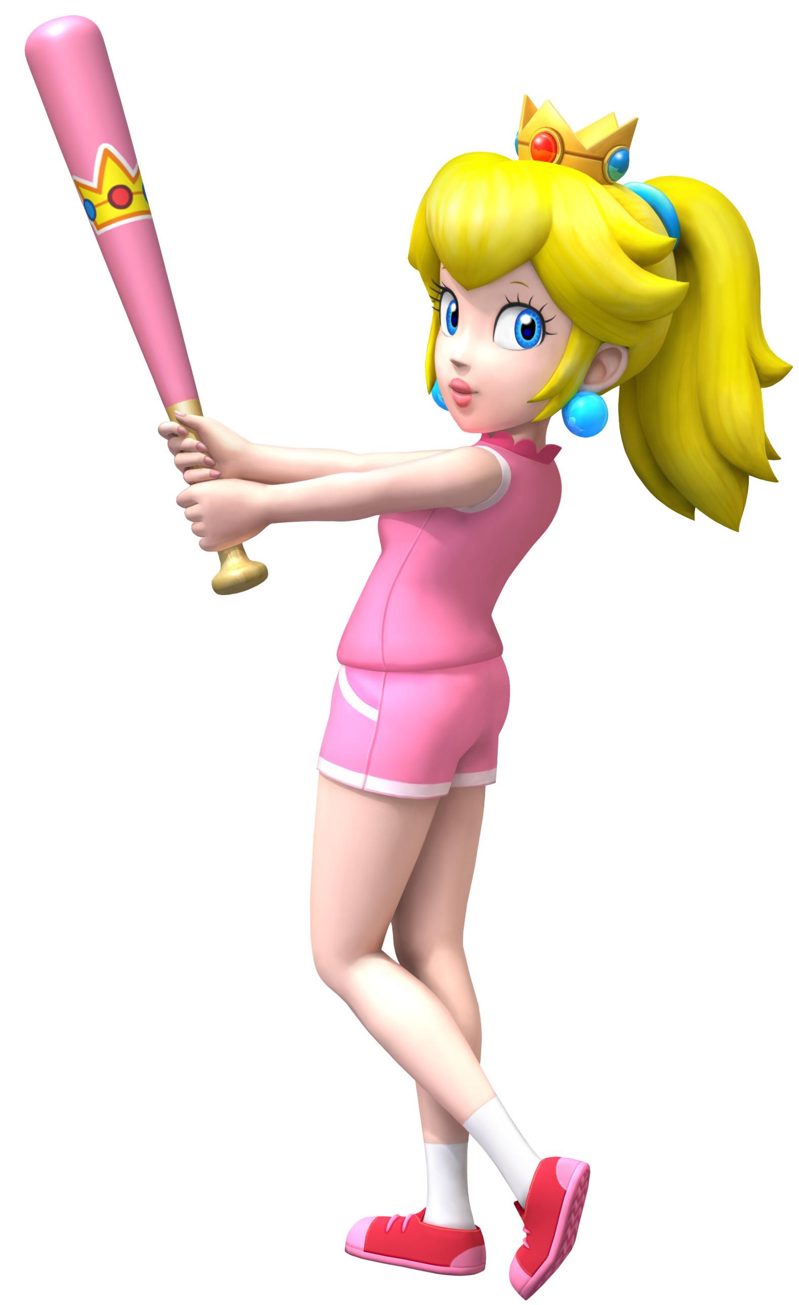 Princess Peach | Sluggerpedia- The Mario Baseball Wiki ...