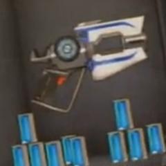 Eli's first blaster, along with a number of slug tubes,