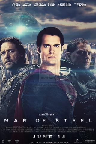 File:Man of steel fan made poster design v9 by diamonddesignhd-d5wc9oz (1).png