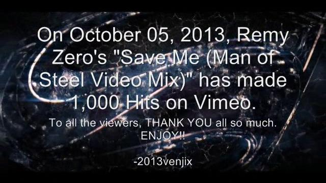 """Remy Zero- Save Me (Man of Steel """"Live"""" Video Mix)"""