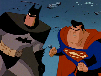 File:Superman DCAU Batman and Superman first team up.png