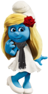 Smurfette with Scarf and Rose 2