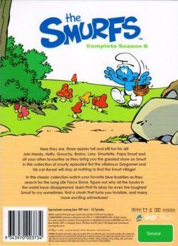 Smurfs Season 6 DVD Back