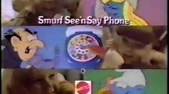 Smurf See 'n Say Phone ad, 1983