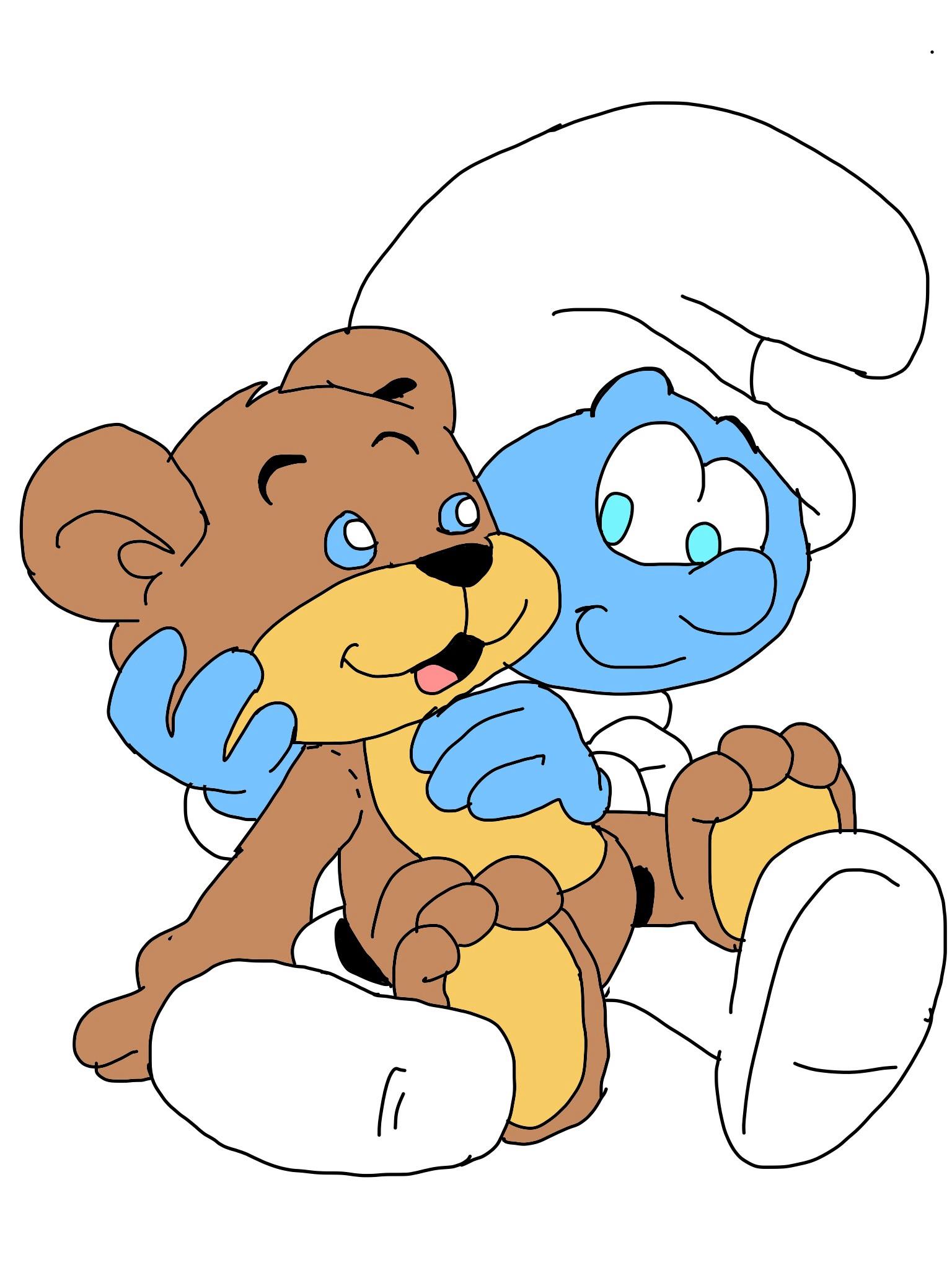 Image result for smurf bear