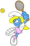 Smurfette With Tennis Racket