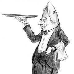 A waiter at Café Salmonella