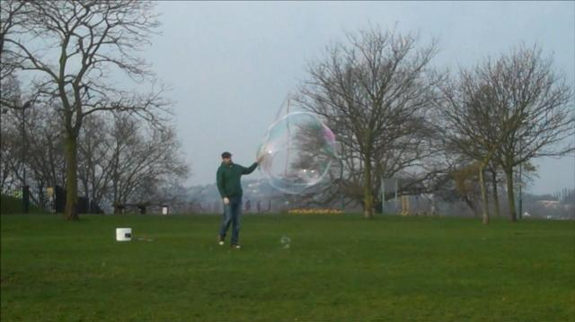 Early Morning Bubbles. Hilly Fields