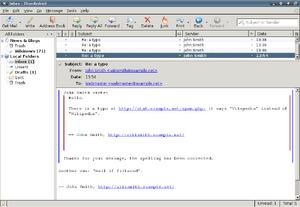 Mozilla Thunderbird 2009 Xfce4
