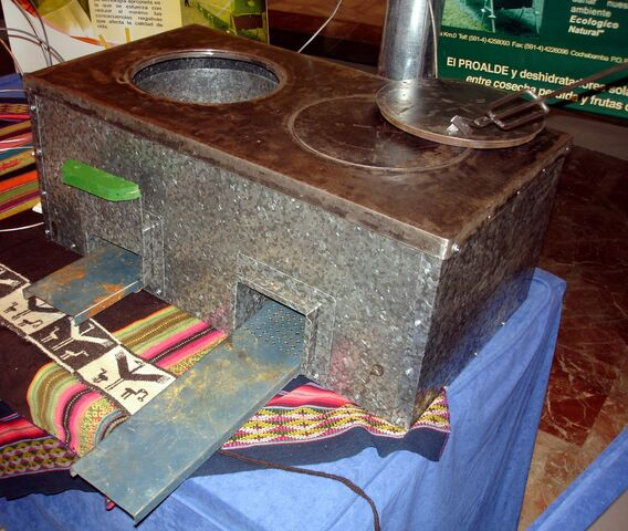 File:Metal Rocket Stove Granada 2006.JPG