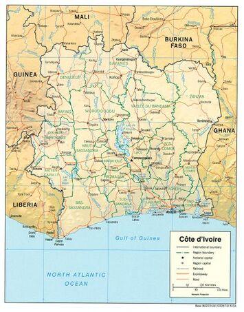 470px-Côte d'Ivoire Map