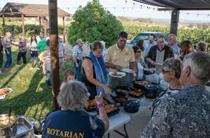Rotary Club dinner, Solar Cooking Plus, 9-18-14