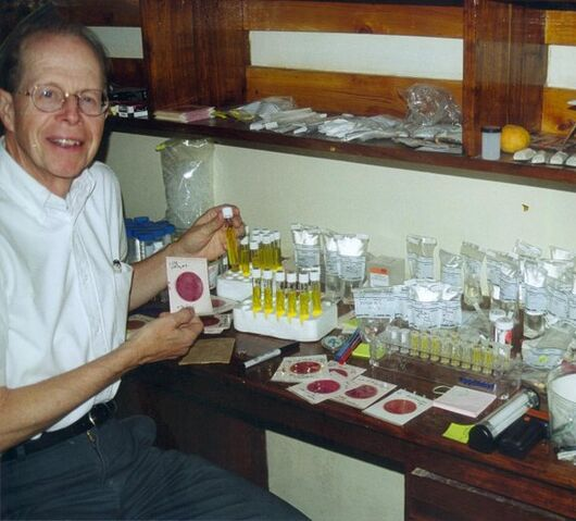File:Robert Metcalf with water testing equipment.jpg