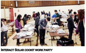 Interact solar cooker construction gathering