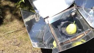 Breadfruit in the solar cooker