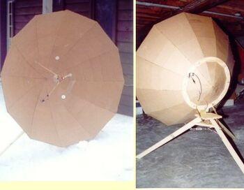 Cardboard parabola plans