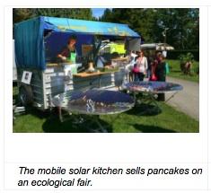 Mobile solar kitchen