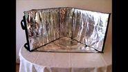 Cuiseur solaire EuroSolarCooker Star, part 1, Construction - Concept de la Cuisson Solaire