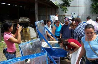 Mujeres Solares de Totogalpa 22 new cookers 2008