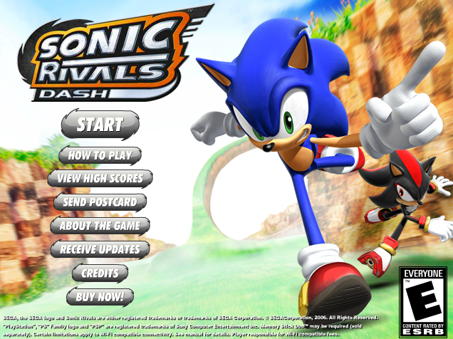 Sonic Rivals - Sonic & Silver - Sonic Rivals - Gallery - Sonic SCANF