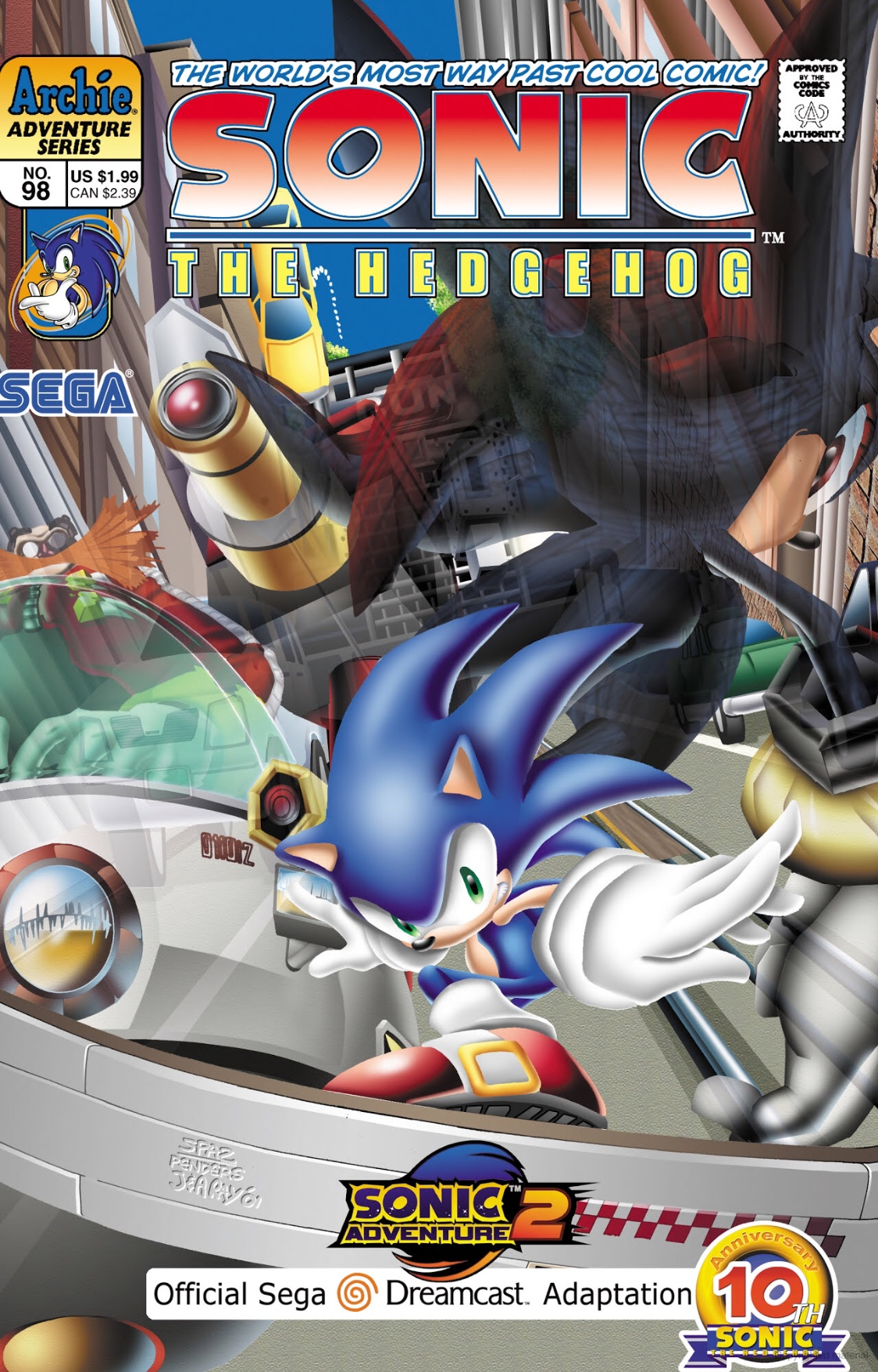 archie sonic the hedgehog issue 98 sonic news network