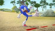 Sonic tries to enter the village (Take 3)