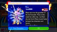 Sonic Runners Blaze unlocked