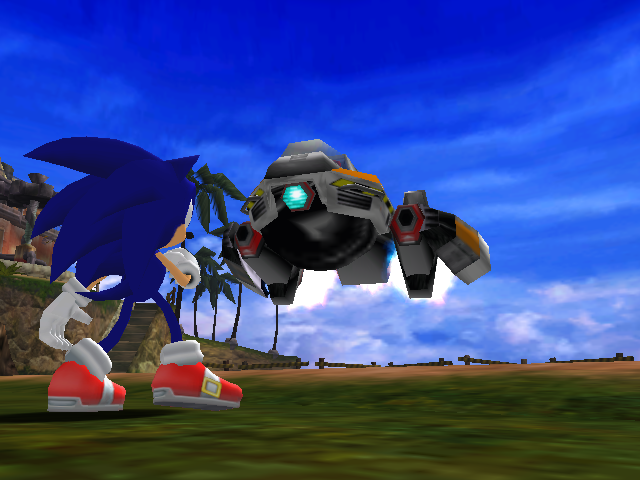 File:Sonic facing Egg Hornet.png