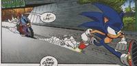 Sonic outruns S.O.N.I.C