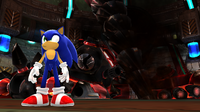 Sonic beating Eggman... again