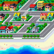 Map emerald town